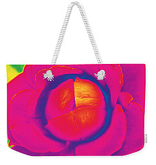 Neon Lettuce Rose Weekender Tote Bag by Samantha Thome