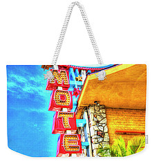 Neon Motel Sign Weekender Tote Bag by Jim and Emily Bush