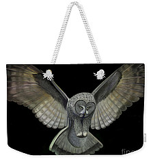Neon Owl Weekender Tote Bag by Rand Herron