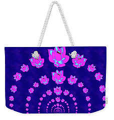 Neon Pink Lotus Arch Weekender Tote Bag by Samantha Thome