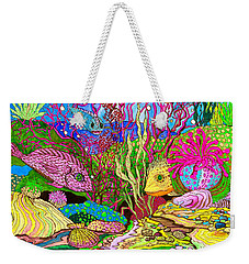 Neon Sea Weekender Tote Bag