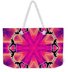 Weekender Tote Bag featuring the digital art Neon Slipstream by Derek Gedney