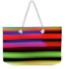 Neon Stripe Weekender Tote Bag