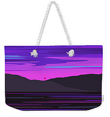 Neon Sunset Reflections Weekender Tote Bag