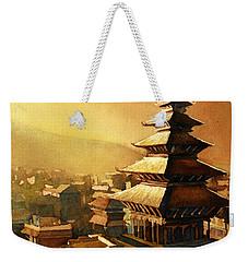 Nepal Temple Weekender Tote Bag by Ryan Fox