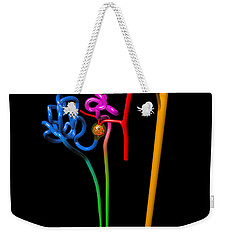Weekender Tote Bag featuring the digital art Nephron Black by Russell Kightley