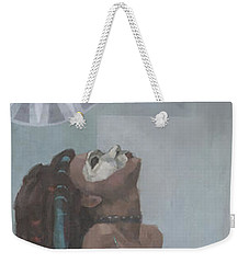Weekender Tote Bag featuring the painting Nephthys by Steve Mitchell