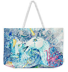Neptune's Horses Weekender Tote Bag by Melinda Dare Benfield