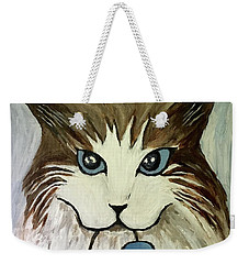 Nerd Cat Weekender Tote Bag