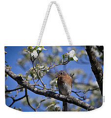 Weekender Tote Bag featuring the photograph Nest Building by Douglas Stucky