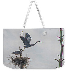 Nesting Great Blue Heron Weekender Tote Bag