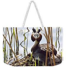 Nesting Grebe Weekender Tote Bag
