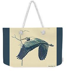 Nesting Heron Weekender Tote Bag