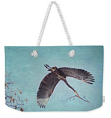 Nesting Heron In Flight Weekender Tote Bag