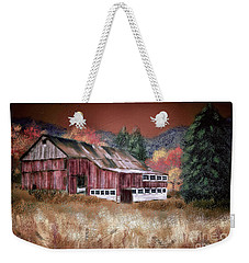 Weekender Tote Bag featuring the digital art Nestled In The Laurel Highlands by Lois Bryan