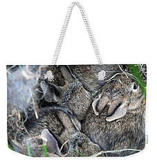 Weekender Tote Bag featuring the photograph Nestled In Their Den by Laurel Best