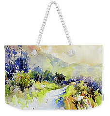 Weekender Tote Bag featuring the painting Nestled by Rae Andrews