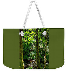 Nestucca River 3039 12x18 Weekender Tote Bag by Jerry Sodorff