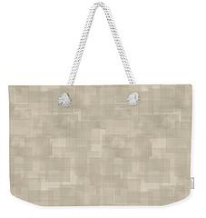 Neutral Brown Abstract Pattern Weekender Tote Bag