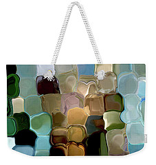 Weekender Tote Bag featuring the digital art Neutrals In Light Abstract by Haleh Mahbod