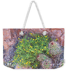 Weekender Tote Bag featuring the photograph Nevada Yellow Wildflower by Linda Phelps