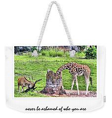 Never Be Ashamed Weekender Tote Bag