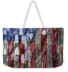 Weekender Tote Bag featuring the photograph Never Forget American Sacrifice by DJ Florek
