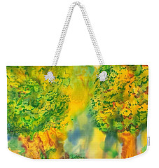 Weekender Tote Bag featuring the painting Never Give Up On Your Dreams by Susan D Moody