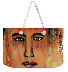 Weekender Tote Bag featuring the digital art Never Give Up by Sladjana Lazarevic