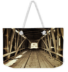 Weekender Tote Bag featuring the photograph Nevins Bridge by Joanne Coyle