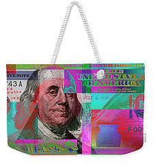 New 2009 Series Pop Art Colorized Us One Hundred Dollar Bill  No. 3 Weekender Tote Bag