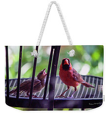 New Baby Cardinal Weekender Tote Bag