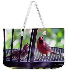 New Baby Cardinal Weekender Tote Bag