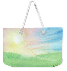 Weekender Tote Bag featuring the painting New Beginnings by Betsy Hackett