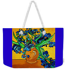 New Blue By You Weekender Tote Bag by Nora Shepley