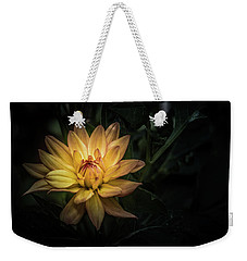Weekender Tote Bag featuring the photograph New Dahlia Bloom by Ryan Photography