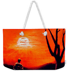 Weekender Tote Bag featuring the painting New Day by Sher Nasser