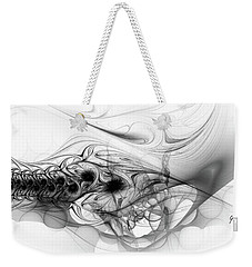 New Directions - Black And White Modern Abstract Art Weekender Tote Bag