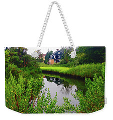 New England House And Stream Weekender Tote Bag