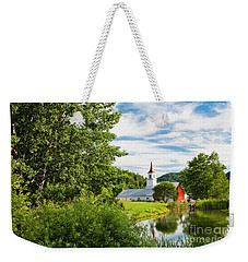 Weekender Tote Bag featuring the photograph New England Idyllic Summer by Alan L Graham