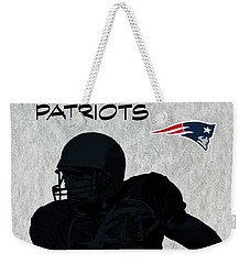 New England Patriots Football Weekender Tote Bag by David Dehner