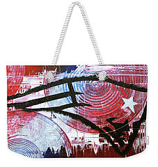 New England Patriots Weekender Tote Bag by Melissa Goodrich