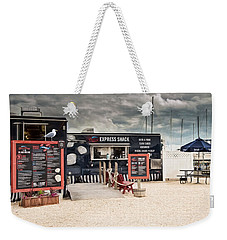 Weekender Tote Bag featuring the photograph New England Seafood Express by Robin-Lee Vieira