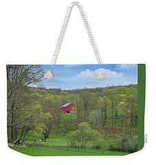 Weekender Tote Bag featuring the photograph New England Spring Pasture by Bill Wakeley