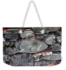 Weekender Tote Bag featuring the photograph New England Stone Fence 5 by Mary Bedy