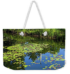 Weekender Tote Bag featuring the photograph New England Summer Pond by Alan L Graham
