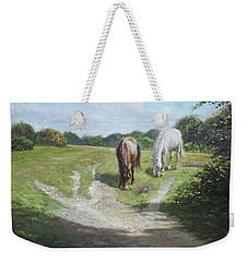 New Forest Horses With Light And Shade  Weekender Tote Bag