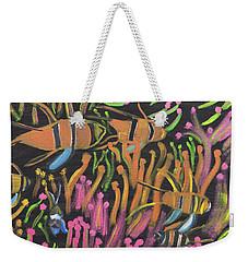 Coral Camoflauge Weekender Tote Bag by Meryl Goudey