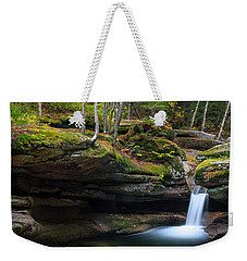 New Hampshire Sabbaday Falls Panorama Weekender Tote Bag