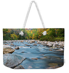 New Hampshire Swift River And Fall Foliage In Autumn Weekender Tote Bag by Ranjay Mitra
